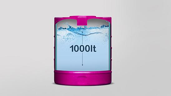 1000-litre water tank