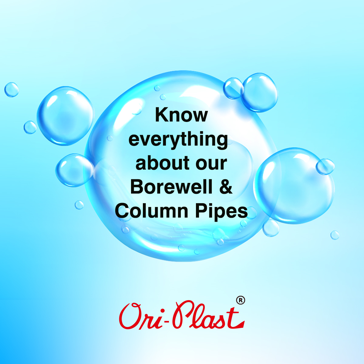 Know everything about Ori-Plast Borewell and Column Pipes